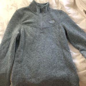 North Face 3/4 zip jacket